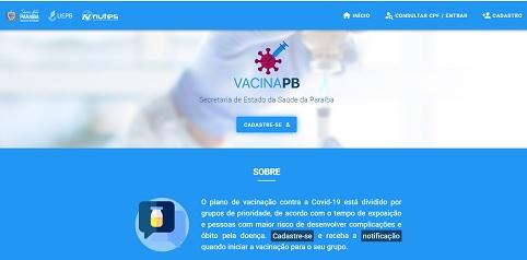 Governo da PB lança Site de Cadastro de Vacinação contra a Covid-19