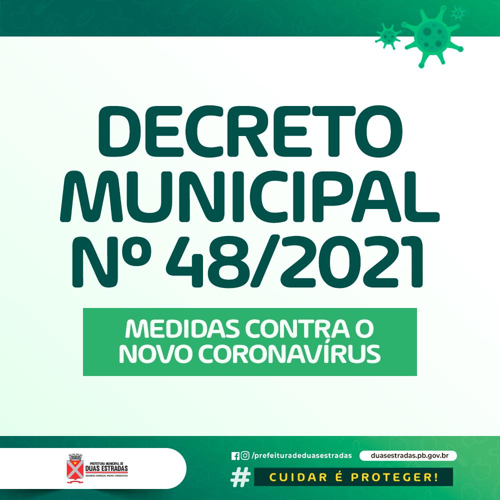 Duas Estradas divulga decreto com medidas adicionais ao documento do Estado com vistas ao combate do novo Coronavírus
