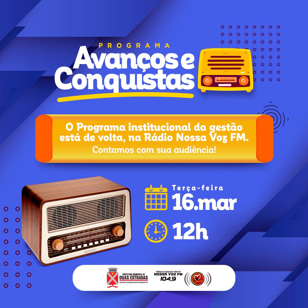 Programa institucional de rádio volta nesta terça-feira (16)
