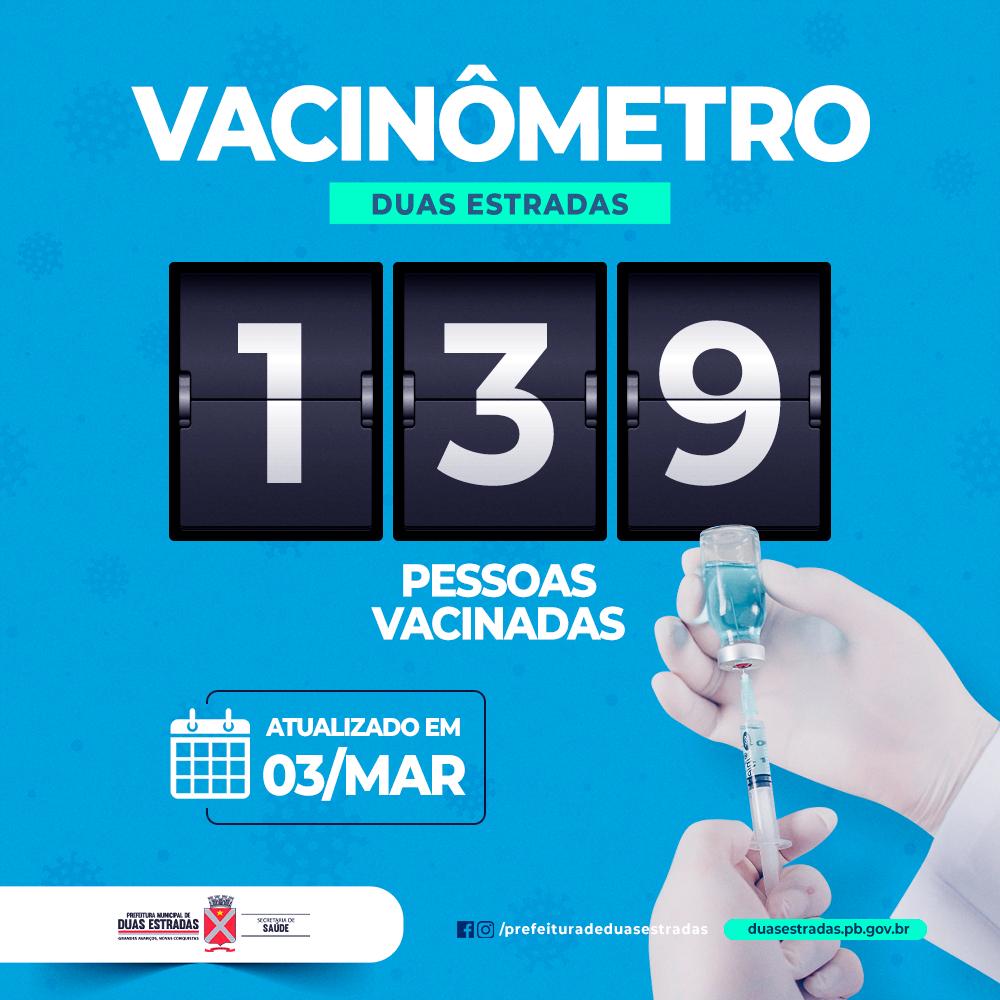 Duas Estradas inicia a vacinação de idosos de 80 anos ou mais nesta quarta-feira (03)