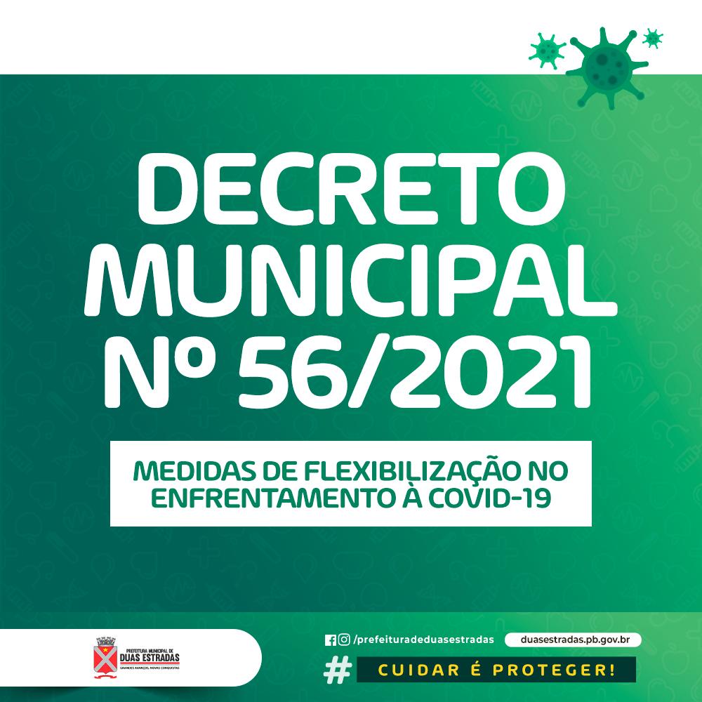 Prefeitura de Duas Estradas lançou novo decreto com medidas restritivas contra o Coronavírus