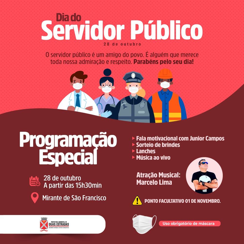 Prefeitura de Duas Estradas celebra Dia do Servidor Público nesta quinta, no Mirante de São Francisco